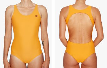Surf Swimsuit | Anaïs - horizon (front & back)