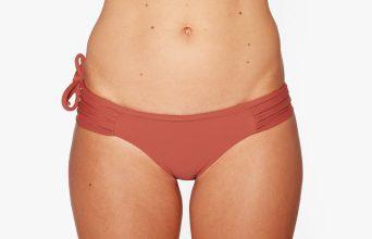 Surf Bikini Bottom | Rote - maroon (front)