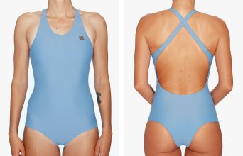 Surf Swimsuit | Kaja - misty (front & back)