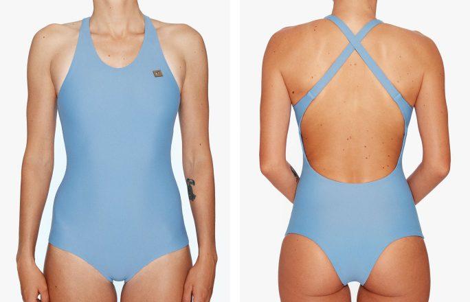 Surf Swimsuit | Kaja - misty (front & back)