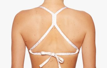 Surf Bikini Top | Malea - breeze (back with fixed cross)