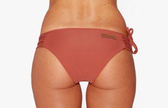 Surf Bikini Bottom | Rote - maroon (back)