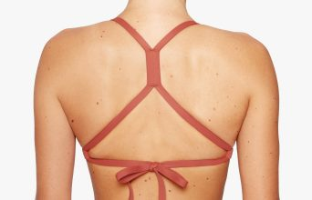 Surf Bikini Top | Santi - maroon (back with fixed cross)
